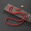天然沙丁朱红珊瑚108佛珠-红掌柜