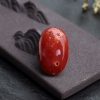 日本天然正红珊瑚蛋面形戒面-红掌柜
