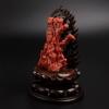 天然阿卡正红珊瑚观音摆件 - 红掌柜