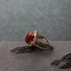 天然阿卡深紅珊瑚戒指-紅掌柜