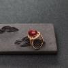 日本阿卡深紅珊瑚戒指-紅掌柜