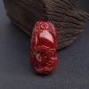 日本天然阿卡深红珊瑚佛吊坠-红掌柜