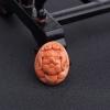 台湾天然MOMO橘色珊瑚猪吊坠-红掌柜