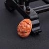 天然MOMO橘色珊瑚猪吊坠-红掌柜