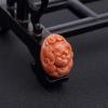 台湾MOMO橘色珊瑚猪吊坠-红掌柜