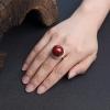 18K金镶钻日本天然阿卡珊瑚戒指-红掌柜