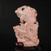 天然深水粉色珊瑚花瓶擺件-紅掌柜