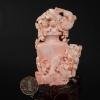粉色珊瑚鏤雕花瓶擺件-紅掌柜