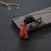 日本天然阿卡正红珊瑚如意吊坠-红掌柜