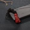 日本阿卡正红珊瑚如意吊坠-红掌柜