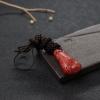 日本天然阿卡珊瑚如意吊坠-红掌柜