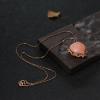 中途岛深水粉色珊瑚心形项链-红掌柜
