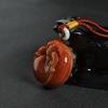 山料橙黄黄龙玉貔貅手把件-红掌柜