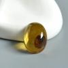天然缅甸精品卵子珀戒面-红掌柜