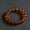 缅甸天然琥珀单圈手串-红掌柜