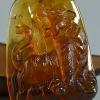 緬甸天然黃茶珀虎虎生威-紅掌柜