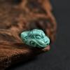 天然高瓷高蓝绿松瑞兽吊坠-红掌柜