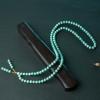 天然中高瓷铁线蓝绿松石108佛珠-红掌柜