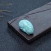 湖北天然中高瓷铁线浅蓝绿松石貔貅吊坠-红掌柜