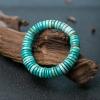 蓝绿绿松石隔片单圈手串-红掌柜