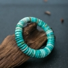 中瓷铁线绿松石隔片单圈手串-红掌柜