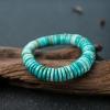 中瓷铁线蓝绿绿松石隔片手串-红掌柜