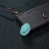 蓝绿松石黄财神吊坠-红掌柜