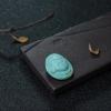 中高瓷蓝绿松石黄财神-红掌柜