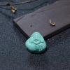 高瓷蓝绿绿松石佛吊坠-红掌柜