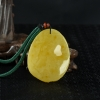 波罗的海鸡油黄蜜蜡弥勒佛手把件-红掌柜