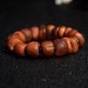 褐紅老蜜蠟單圈手串-紅掌柜
