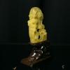 天然鸡油黄蜜蜡摆件-红掌柜