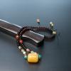 蜜蜡桶珠锁骨链-红掌柜