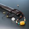 波罗的海天然蜜蜡桶珠锁骨链-红掌柜