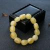 柠檬黄蜜蜡随形单圈手串-红掌柜