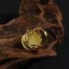 银镶波罗的海天然蜜蜡戒指-红掌柜