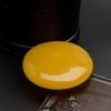 鸡油黄蜜蜡平安扣 - 红掌柜