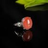 银镶天然川料南红戒指-红掌柜