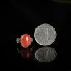 银镶天然南红戒指-红掌柜