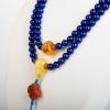 天然阿富汗紫蓝色青金石108佛珠-红掌柜