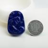 天然阿富汗紫蓝色青金石洋洋得意吊坠-红掌柜