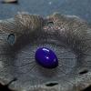 阿富汗天然深蓝色青金石形戒面-红掌柜