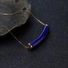 18K天然阿富汗深蓝色青金石项链-红掌柜