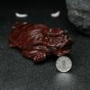 鸡血红小叶紫檀龙龟摆件-红掌柜