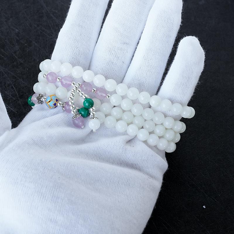 玉化砗磲念珠 - 红掌柜珠宝