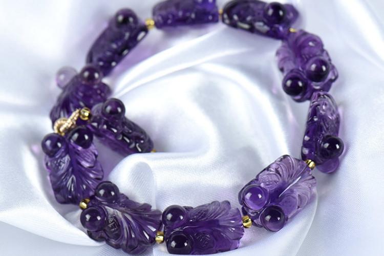 紫水晶手链图片