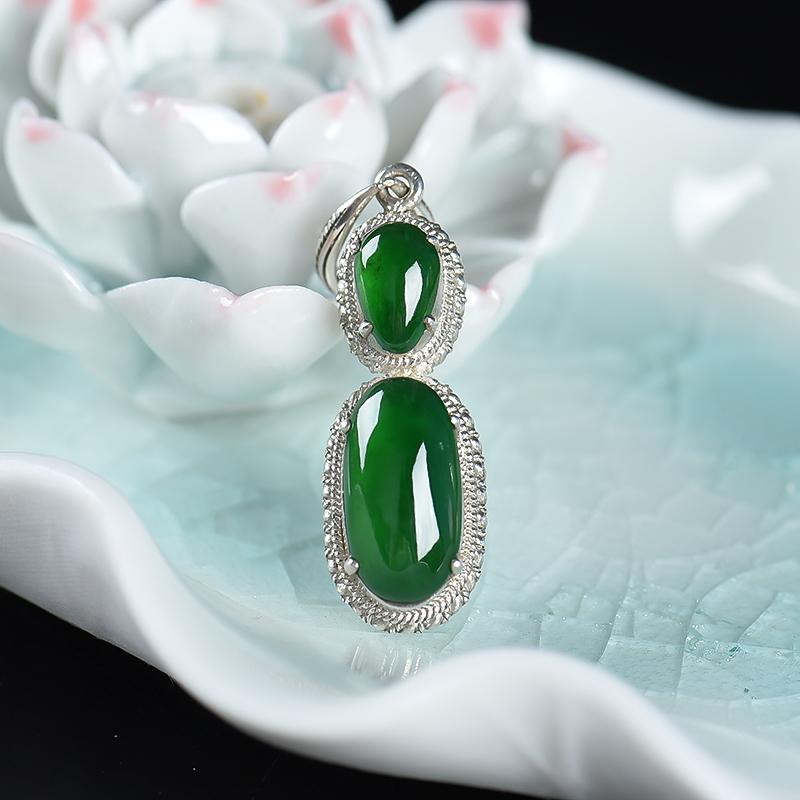 缅甸翡翠戒面 - 红掌柜珠宝