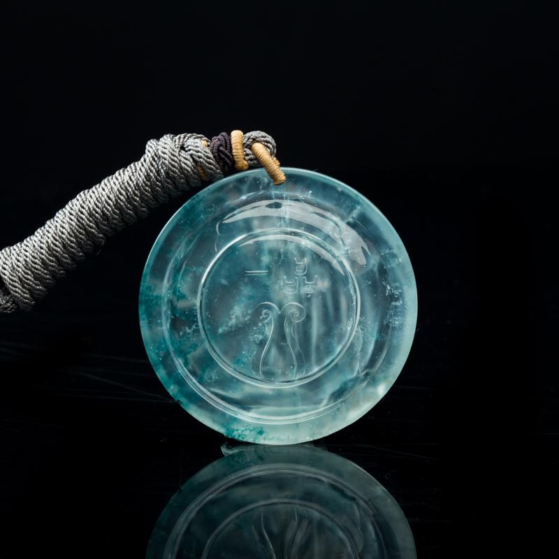 天然缅甸玻璃种飘花翡翠吊坠-红掌柜