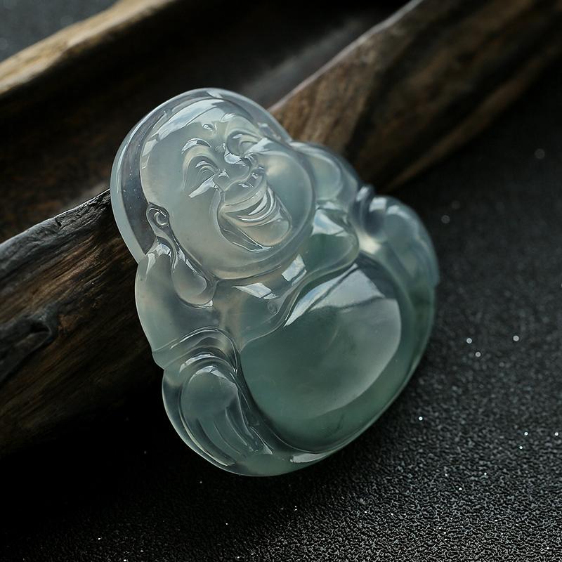冰种翡翠大佛 - 红掌柜珠宝