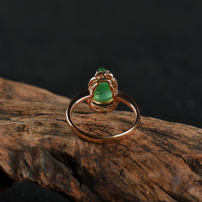 翡翠葫芦戒指-红掌柜